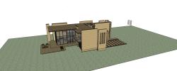پروژه آماده سه بعدی ساختمان اداری در اسکچاپ SKETCHUP